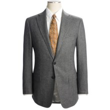 Isaia Solid Fancy Wool Suit (For Men) in Light Charcoal Heather - Closeouts