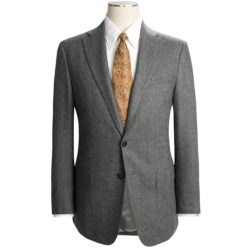 Isaia Solid Fancy Wool Suit (For Men) in Light Charcoal Heather