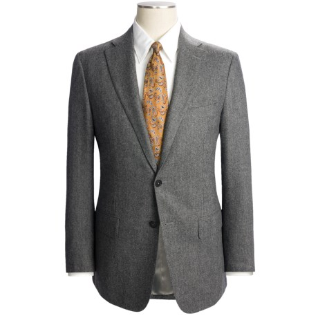 Isaia Solid Fancy Wool Suit (For Men)
