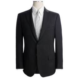 Isaia Solid Suit - Wool-Mohair (For Men) in Black