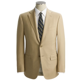 Isaia Solid Wool Suit (For Men) in Wheat