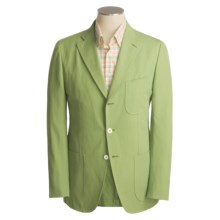 Isaia Sport Coat - Cotton-Rich (For Men) in 3B/Cv/Cotton/Linen/Green Solid - Closeouts