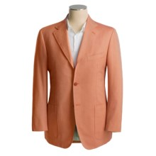 Isaia Sport Coat - Cotton-Rich (For Men) in 3B/Sv/Cotton/Cashmere/Red Orange Birdseye - Closeouts