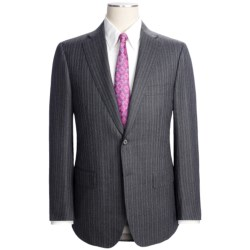 Isaia Stripe Suit - Wool-Cashmere (For Men) in Charcoal/Lavender