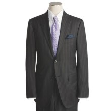 Isaia Stripe Suit - Wool-Silk (For Men) in Black - Closeouts