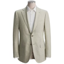 Isaia Striped Sport Coat - Linen-Wool (For Men) in Sage/Natural - Closeouts
