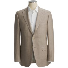 Isaia Subtle Herringbone Sport Coat - Linen (For Men) in Taupe - Closeouts