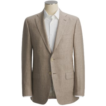 Isaia Subtle Herringbone Sport Coat - Linen (For Men) in Taupe