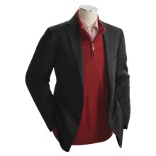 Isaia Textured Sport Coat - Wool (For Men) in Black - Closeouts