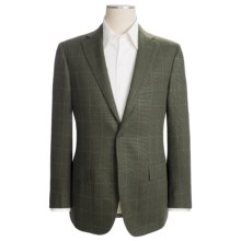 Isaia Tic Weave Sport Coat - Wool-Silk-Mohair (For Men) in Dark Green/ Beige - Closeouts
