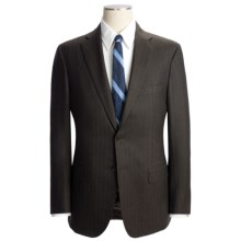 Isaia Tonal Stripe Suit - Wool (For Men) in Brown Heather - Closeouts