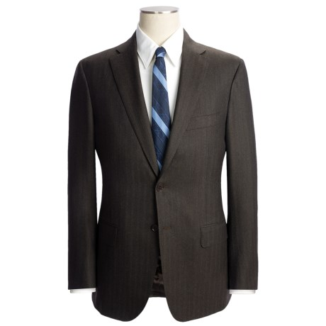 Isaia Tonal Stripe Suit - Wool (For Men) in Brown Heather