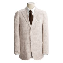 Isaia Washed Linen Sport Coat (For Men) in Brown Isaia Logo - Closeouts