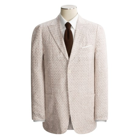 Isaia Washed Linen Sport Coat (For Men) in Brown Isaia Logo
