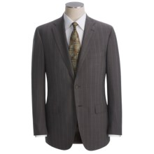 Isaia Wide Stripe Suit - Wool (For Men) in Brown/Teal - Closeouts