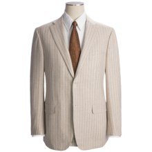 Isaia Wide Stripe Suit - Wool (For Men) in Light Tan - Closeouts