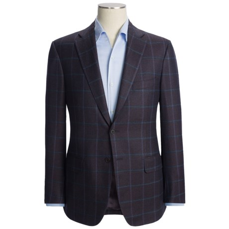 Isaia Windowpane Sport Coat - Wool-Cashmere (For Men) in Deep Purple