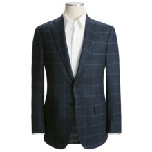 Isaia Windowpane Sport Coat - Wool-Cashmere (For Men) in Navy/Blue Windowpane - Closeouts