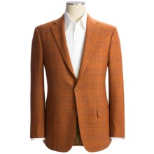 Isaia Windowpane Sport Coat - Wool-Cashmere (For Men) in Sunset Orange/Blue - Closeouts