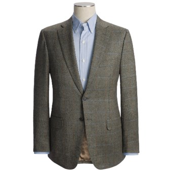 Isaia Windowpane Sport Coat - Wool (For Men) in Black/Blue/Rust