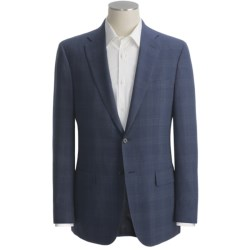Isaia Windowpane Sport Coat - Wool (For Men) in Deep Blue
