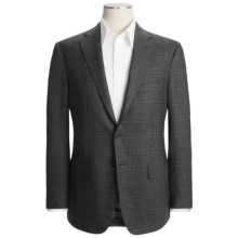 Isaia Windowpane Sport Coat - Wool (For Men) in Dark Charcoal - Closeouts