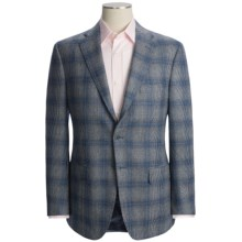 Isaia Windowpane Sport Coat - Wool (For Men) in Deep Blue - Closeouts