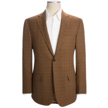 Isaia Windowpane Sport Coat - Wool (For Men) in Rust/Green/White - Closeouts