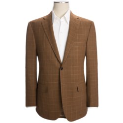 Isaia Windowpane Sport Coat - Wool (For Men) in Rust/Green/White