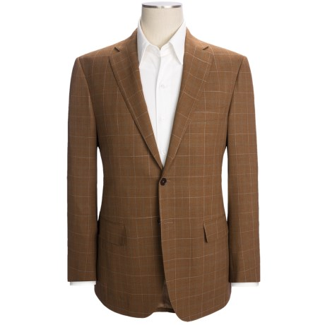 Isaia Windowpane Sport Coat - Wool (For Men) in Rust/Green/White
