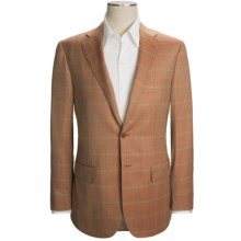 Isaia Windowpane Sport Coat - Wool (For Men) in Rust - Closeouts
