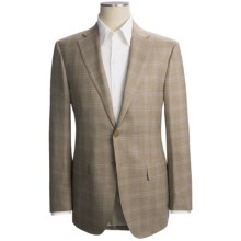 Isaia Windowpane Sport Coat - Wool (For Men) in Taupe/Blue - Closeouts