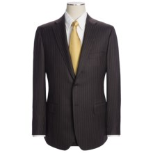 Isaia Wool Beaded Stripe Suit (For Men) in Dark Brown/Blue - Closeouts