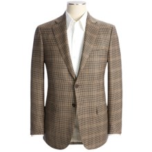 Isaia Wool-Cashmere Check Sport Coat - Windowpane Overlay (For Men) in Light Tan - Closeouts