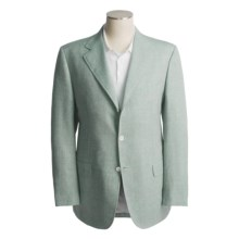 Isaia Wool-Linen Sport Coat (For Men) in 3B/Sv/Wool/Linen/Blue/Olive Tweed - Closeouts