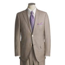 Isaia Wool-Rich Suit (For Men) in Tan/Lavender Plaid - Closeouts