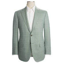 Isaia Wool Sport Coat - Faint Tonal Check (For Men) in Cool Mint - Closeouts