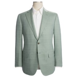 Isaia Wool Sport Coat - Faint Tonal Check (For Men) in Cool Mint