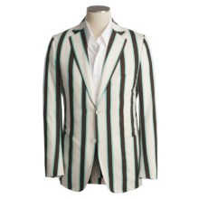 Isaia Wool Sport Coat (For Men) in Ivory/Dark Brown/Pool Stripe - Closeouts
