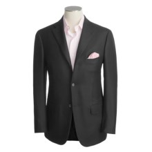 Isaia Wool Twill Blazer (For Men) in Black - Closeouts