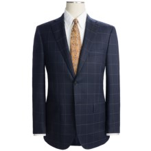 Isaia Wool Windowpane Suit (For Men) in Navy - Closeouts