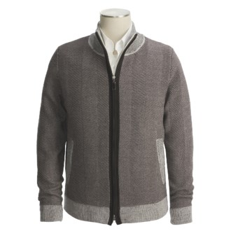 Isaiah Ciarrai Merino Wool Cardigan Sweater (For Men) in Light Brown