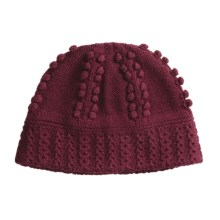 Isis Cable Beanie Hat - Wool, Microfleece Lining (For Women) in Beet - Closeouts