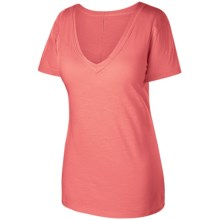 Isis Dream V-Tee T-Shirt - Cotton Slub, Short Sleeve (For Women) in Papaya - Closeouts