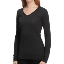 Isis Fundamental V Shirt - V-Neck, Long Sleeve (For Women) in Black - Closeouts