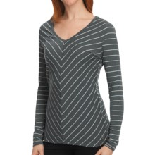 Isis Fundamental V Shirt - V-Neck, Long Sleeve (For Women) in Jet - Closeouts