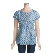 Isis Madison Shirt - Short Sleeve (For Women) in Water Geo - Closeouts