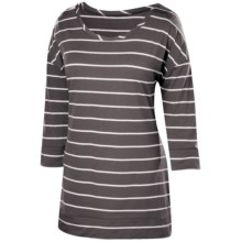 Isis Moxie Shirt - UPF 30+, 3/4 Sleeve (For Women) in Dusk Stripe - Closeouts