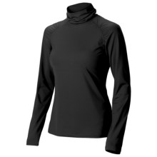 Isis Shirred Turtleneck - Long Sleeve (For Women) in Black - Closeouts