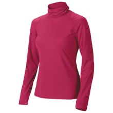 Isis Shirred Turtleneck - Long Sleeve (For Women) in Vixen - Closeouts